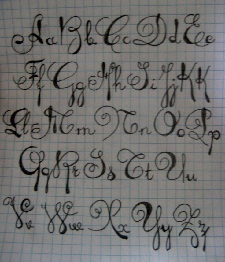 Script Alphabet By Themusicjunkie On Deviantart  Free Download Tattoo