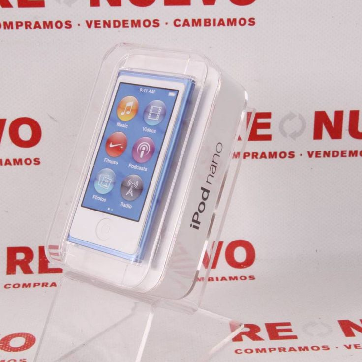 Comprar IPOD NANO 7G 16GB táctil BLUE Nuevo Precintado E295429 | Tienda online de segunda mano #iPod #segundamano #música #apple