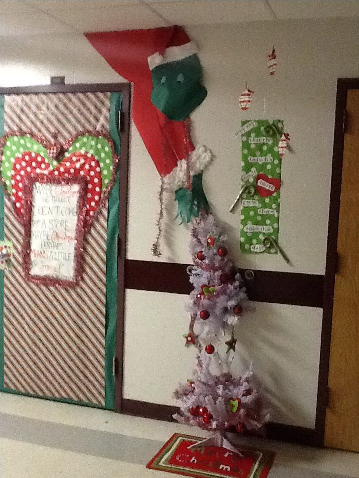 Classroom Decoration Ideas For Competition ~ Classroom door contest grinch pinterest doors