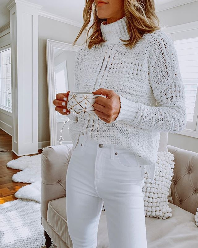 FASHION & STYLE & TREND: 35+ Best White Outfit Outfit Idea! #best #knittingmode …