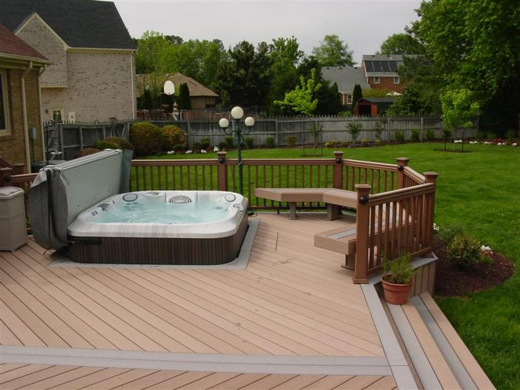 hot tub deck designs | Hot-Tub Surrounds Decking