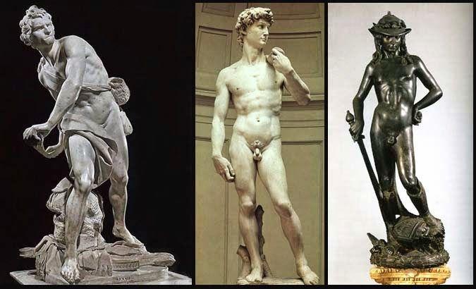 Arte con la prof: DAVID ... statue a confronto