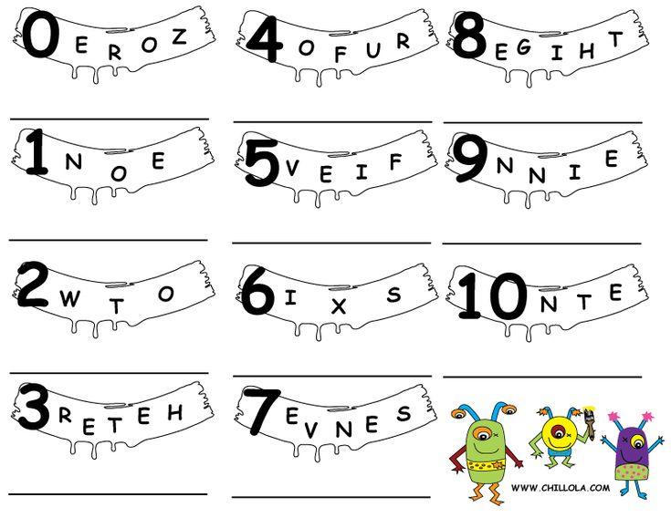 numbers worksheets english