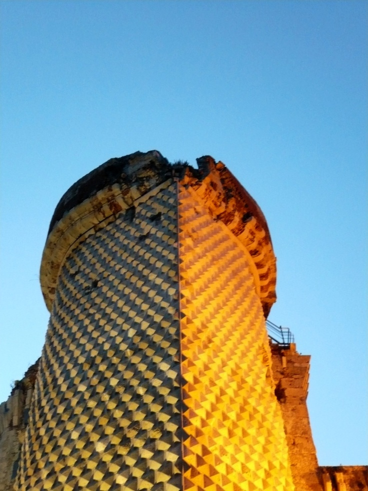 Torre dei Diamanti, the tower of the medieval castle: castel Govone, on the hill over Finalborgo