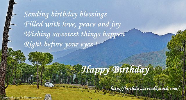 True Picture HD Birthday Cards for Sending Blessing (With Beautiful Background Landscape) | True Picture HD Birthday Cards