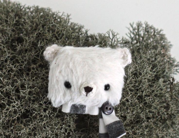 Teddy bear brooch Little bear toy stuffed animals brooch Mens gift teddy bear brooch toy Womens gift brooch teddy bear little bear brooch by KodamaLife on Etsy