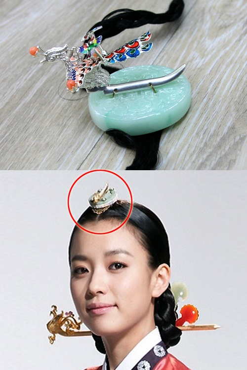 Hair ornaments Jade Cheupji in Korean drama Dongyi