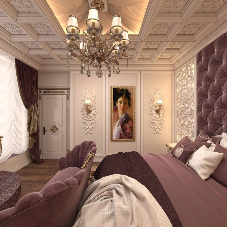 Фото интерьера классической спальни