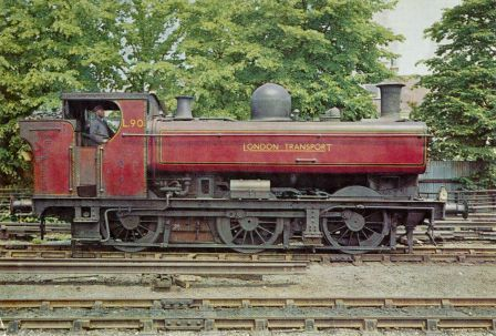 London Transport ex GWR pannier tank L90 shortly before withdrawal and being…