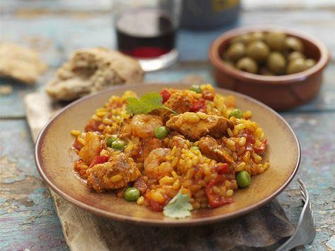 paella mit hähnchen und garnelen rezept paella rezept