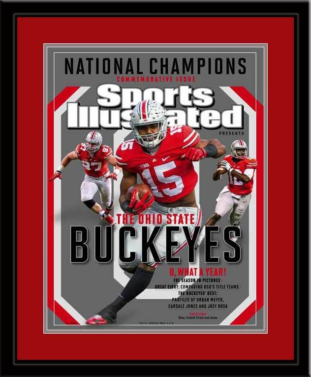 sports illustrated magazine cover print january 2015 commemorative issue of si is a must have for any buckeye fan to display in their office
