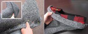 A Gaivota Artesanato: Reciclagem: Botas feitas com blusa de lã velha PaP Sapatilha que vira bota