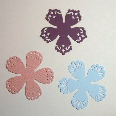 """use border punches to make """"lace"""" flowers"""
