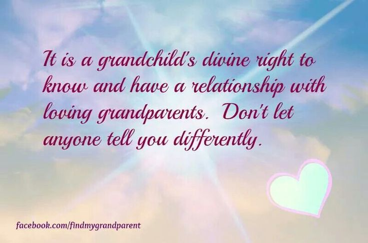 Grandparents Rights. Every divorce parent needs to realize the damage they can do to a child, by not letting them be a part of their grandparent's lives