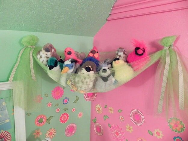 Use tulle to make a toy net or stuffed animal storage