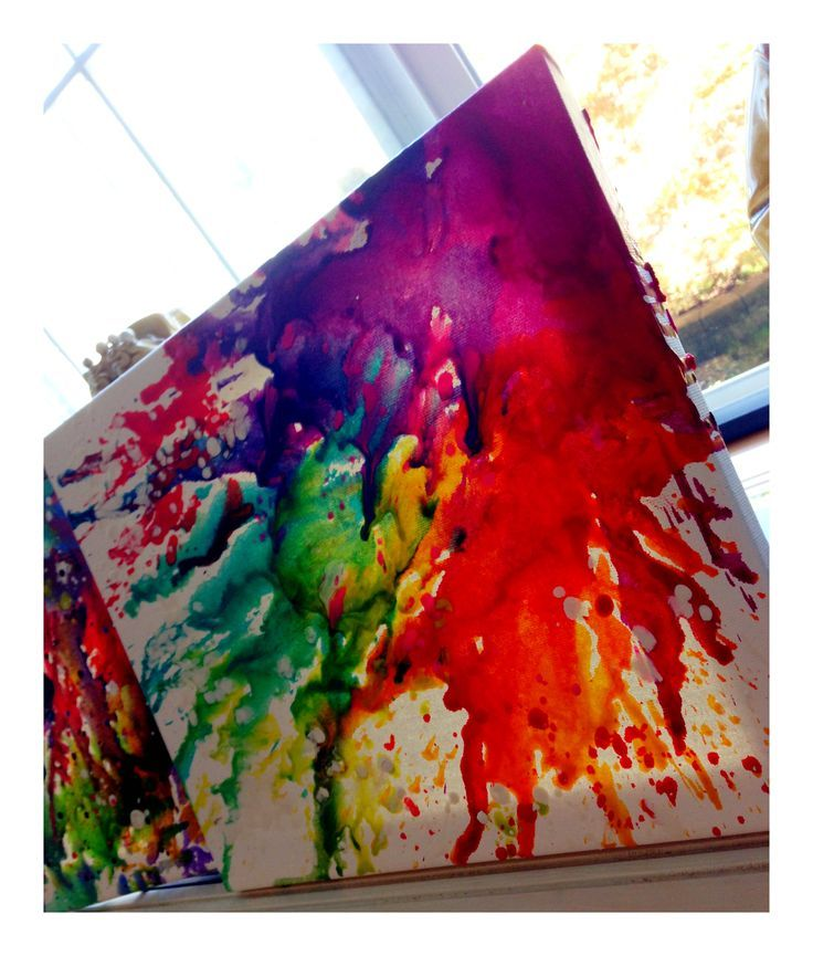 Diy crayon canvas art projects to remember art for Crayon diy canvas