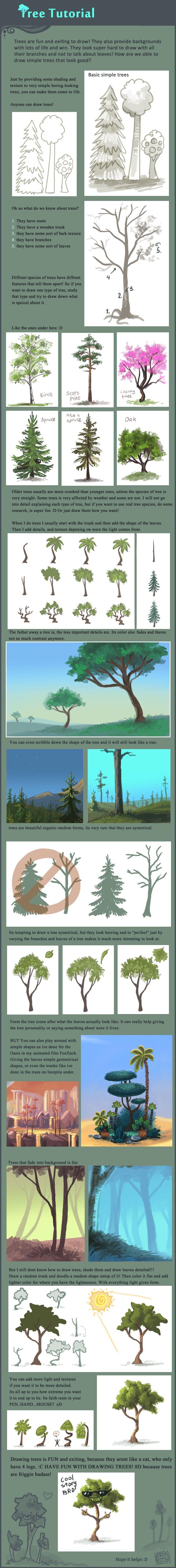 Tree tutorial by =griffsnuff on deviantART
