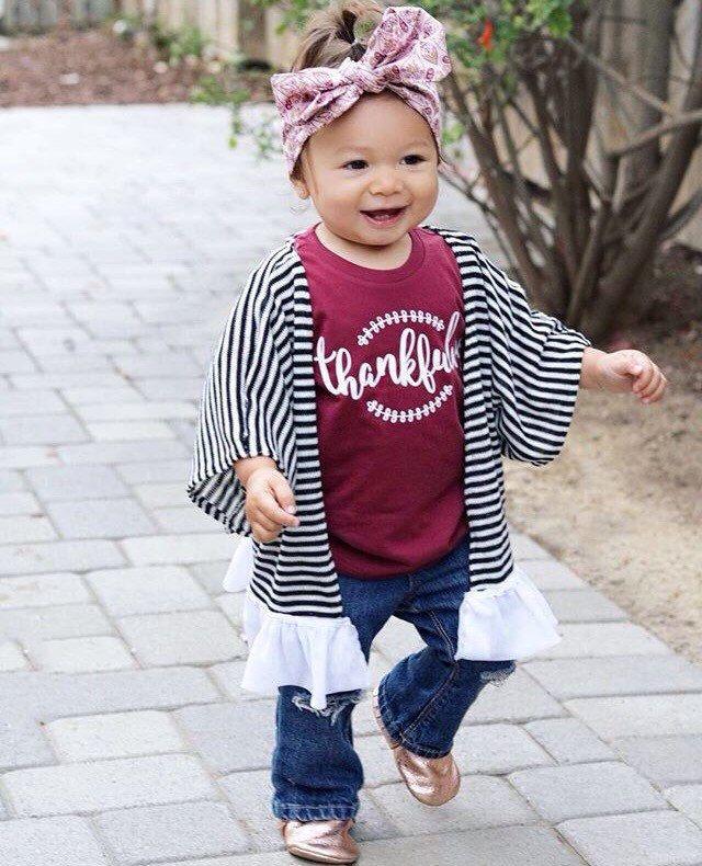 Toddler Thanksgiving Shirt - Baby Girl Thanksgiving Outfit - Baby Girl Fall Outfit - Thankful Shirt for kids - Thankful Baby - Thanksgiving by LittleBlessingCo on Etsy https://www.etsy.com/listing/465591498/toddler-thanksgiving-shirt-baby-girl