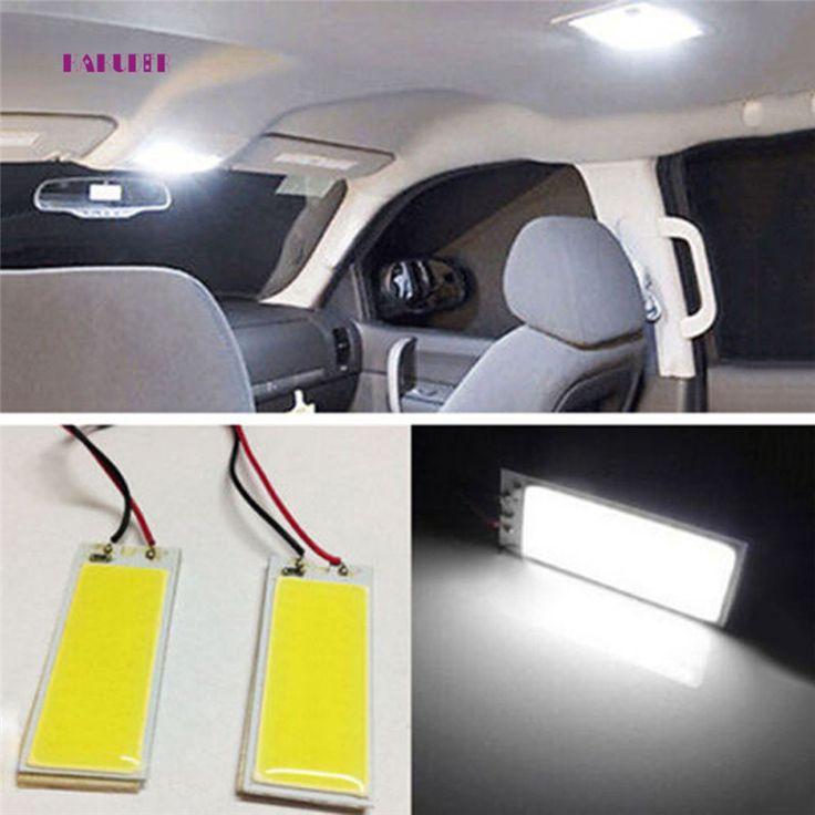 AUTO 2 pcs 12 V Xenon HID Blanc 36 COB LED Dôme Carte Ampoule De Voiture Intérieur Panneau Lampe Intérieur LED ampoules voiture style Juillet 17