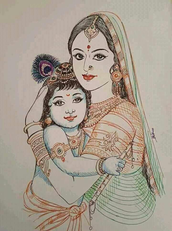 Pin By Nareshkumar Jayachandran On Spirituality And Gods Krishna Painting Krishna Drawing Hindu Art