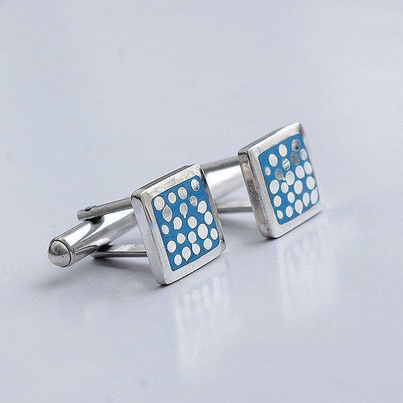 Handmade sterling silver cufflinks