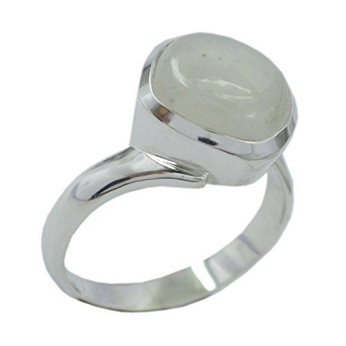 Jewelryonclick Original Kissen Regenbogen Mondstein Silber Erklärung Ring für