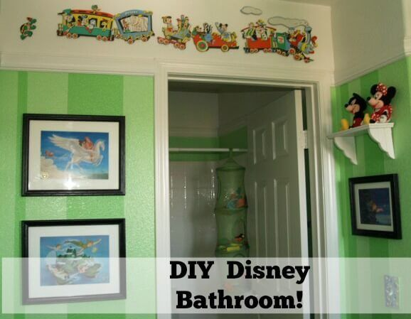 Disney Bathroom – Highlights Along the Way #bathroom #idea http://bathroom.remmont.com/disney-bathroom-highlights-along-the-way-bathroom-idea/  #disney bathroom decor Disney Bathroom So a while back I blogged about our big kid room decor. I thought it might be fun to share their Jack Jill Disney bathroom. We wanted something that was unisex, fun, and inexpensive. Well of course, being that I am a bit of a Disney nut, and have been […]