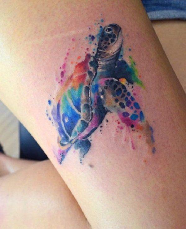 45 Schildkröte Tattoo Design-Ideen