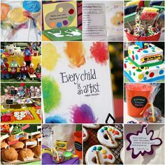 Yesterday was my little guy's   4 th  Birthday !        Because he loves to color and paint,     he choose an A r t  Theme  for his party!...