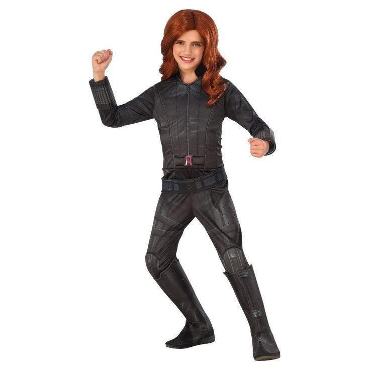 Marvel's Captain America: Civil War Deluxe Girls' Black Widow Costume L(12-14)