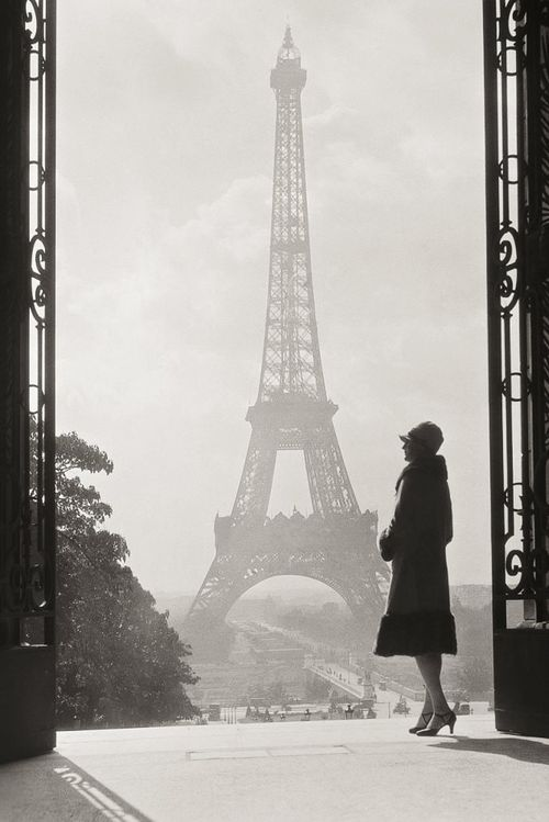Unknown photographer paris 1928 black and white vintage eiffel tower architecture france