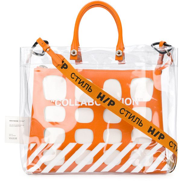 Heron Preston x Off-White Tote Bag ($1,058) ❤ liked on Polyvore featuring bags, handbags, tote bags, champagne purse, off white tote bag, off white handbag, tote handbags and handbags tote bags