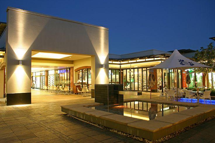 Shopping centre courtyard.