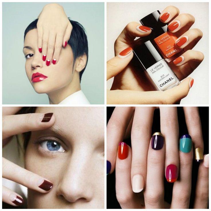 manicure francesa invertida - Buscar con Google