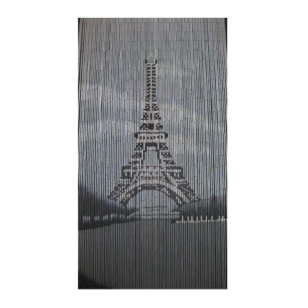 Eiffel Tower is a 90 strand 90 x 200cm beaded door curtain featuring a monochromatic depiction of the iconic Eiffel Tower.