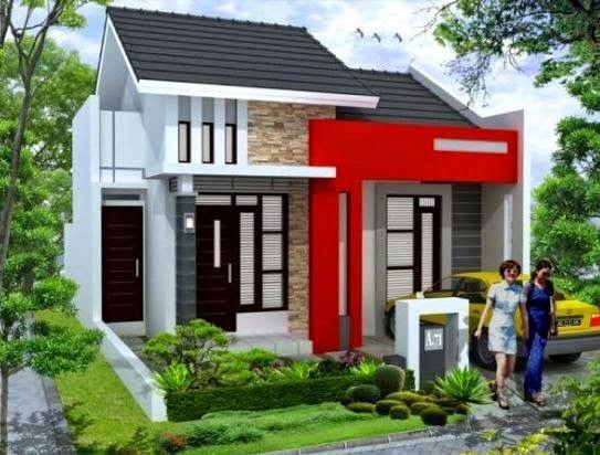 Model rumah minimalis 1 lantai dengan gaya modern terkini,,,typenya pun menggunakan type 36 yang lagi tren untuk membangun rumah