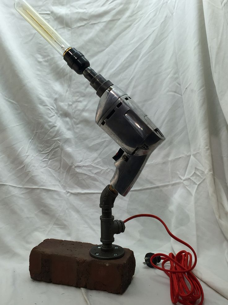 Driller - brick, pipe, drill, lamp socket, drill switch