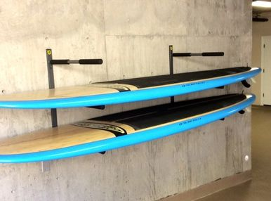 paddleboard (SUP) wall storage rack for the boarders in your life