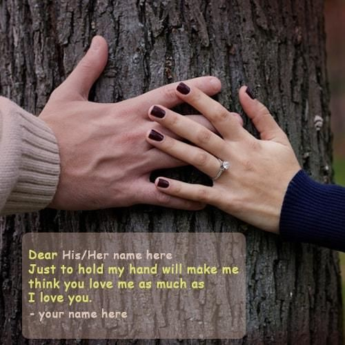 Just Hold My Hand Love Quotes Name Picture Free. Print Name Hold Hand Love  Quotes