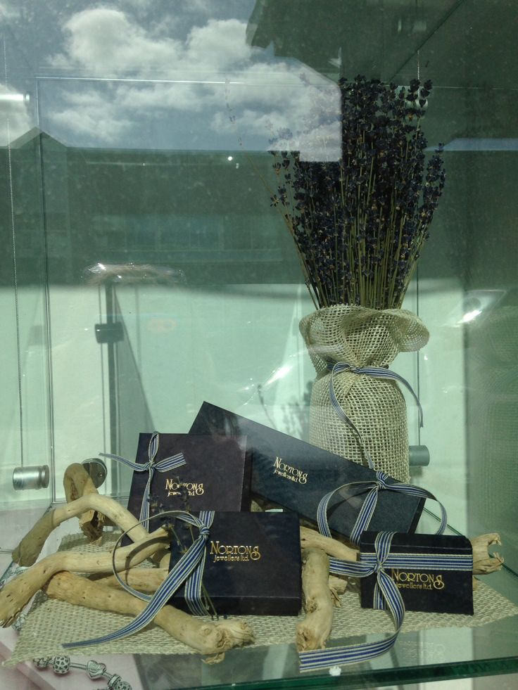Summertime Jewellery Window Display for Nortons Jewellers created by Moving Designz