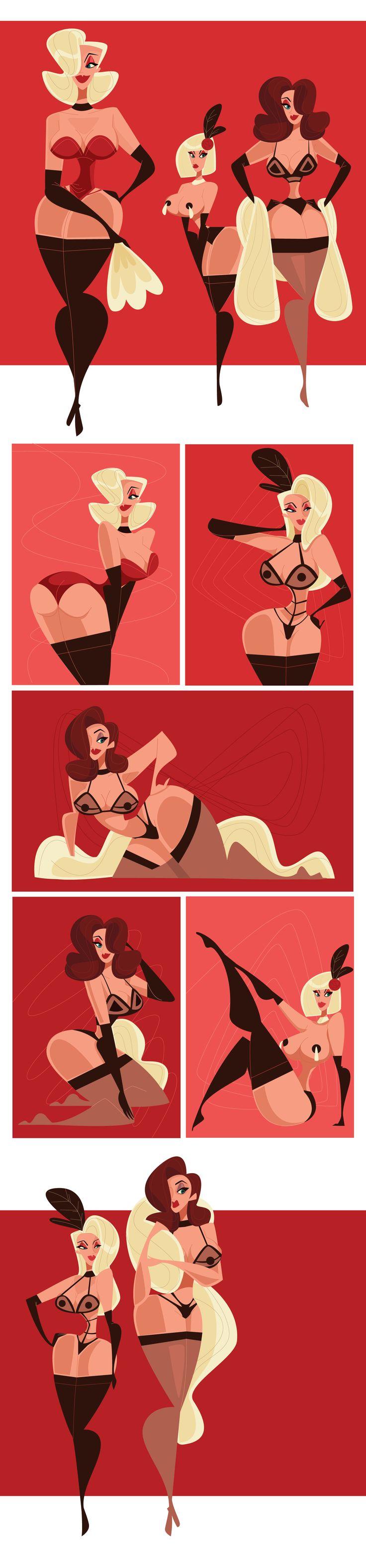 """Consulta este proyecto @Behance: """"Burlesque"""" https://www.behance.net/gallery/34424113/Burlesque"""