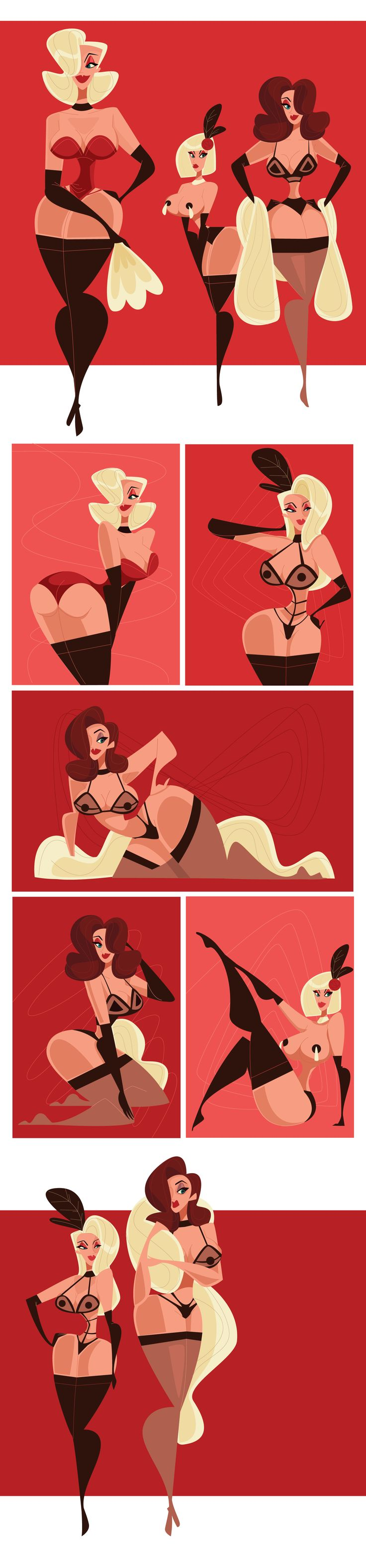 "Consulta este proyecto @Behance: ""Burlesque"" https://www.behance.net/gallery/34424113/Burlesque"