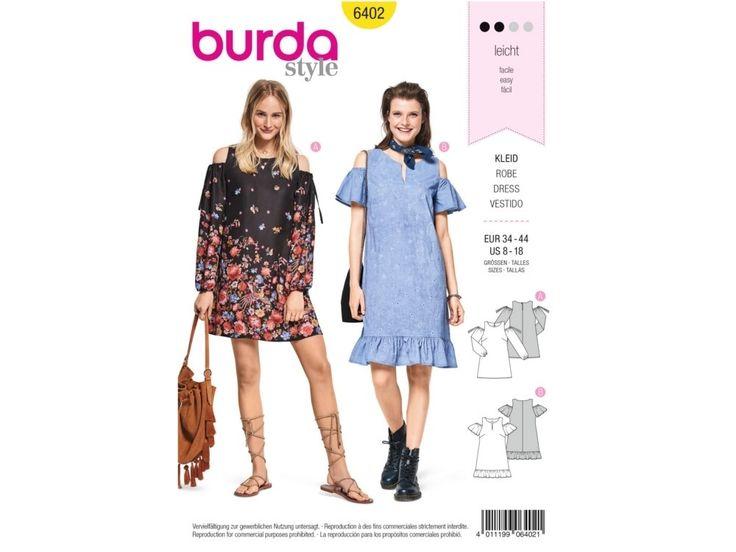 Sewing pattern dress, Burda 6402   tissus-hemmers.fr