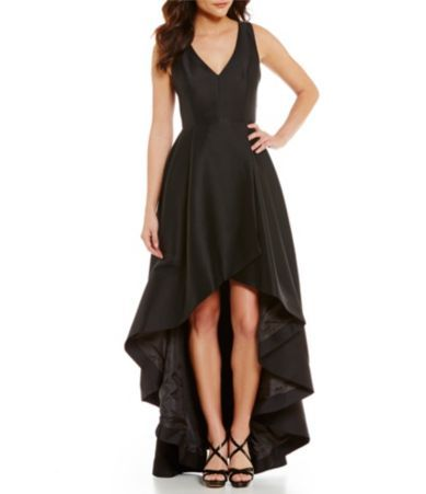 Calvin Klein Taffeta Tulip Hi-Low Dress #Dillards