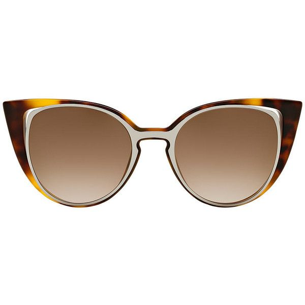 Fendi Ff 0136/s 51 Tortoise Cat Sunglasses (7,820 MXN) ❤ liked on Polyvore featuring accessories, eyewear, sunglasses, tortoise glasses, tortoise shell sunglasses, fendi glasses, cat-eye glasses and tortoiseshell glasses