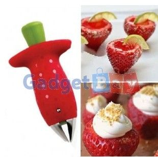Strawberry Berry Stem Leaves Huller Remover Removal Fruit Corer Kitchen Tool