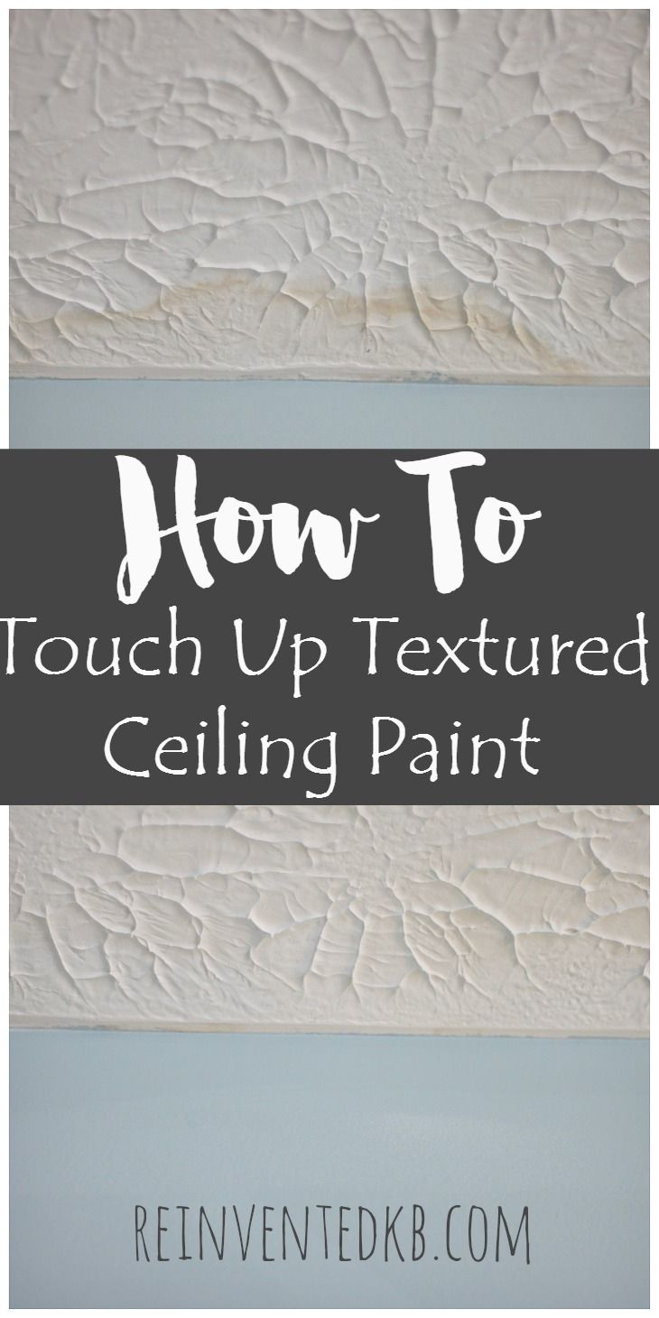 Do you have a textured ceiling with water stains or spots of paint from an over enthusiastic roller? Here's an idea, how to touch up textured ceiling paint!