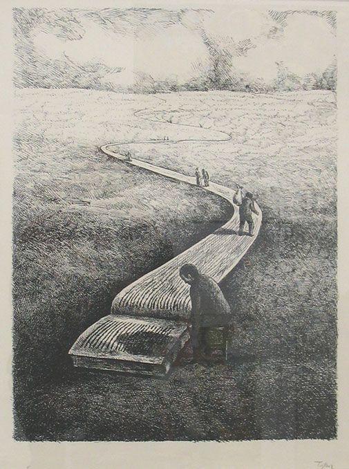 Roland Topor (1938-1997) - Important Book (Le Grand Livre), N/D  Anne-Marie et Roland Pallade Gallery, Lyon, France
