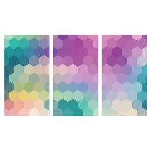 Pretty Geometrics Triptych