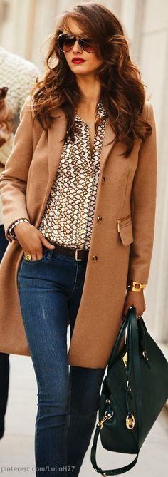 Love everything about this outfit.  Especially the top.  The jacket is probably too much for the climate I live in.